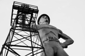 """Famous landmark as Tulsa used to lay claim to the """"Oil Capital of the World"""". Houston now holds that tag. Featured in Oklahoma's $1.3 Billion Disaster."""