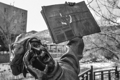 I got this shot during my trip to Denver. Statue is located in Golden, CO. Featured in Take a Closer Look.
