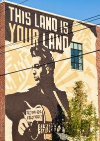 Woody Guthrie Center Mural