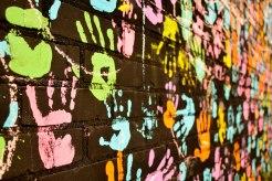 Hand Print Wall Mural