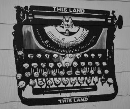 Typewriter Mural
